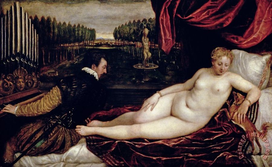 Titian Venus and the Organist Art Print