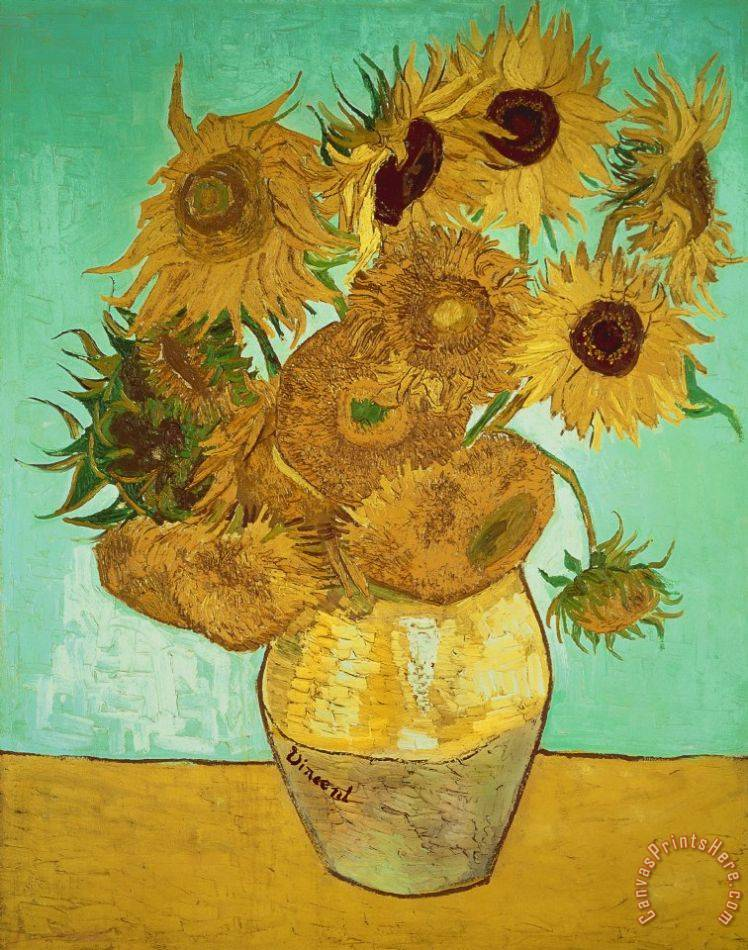 Vincent Van Gogh Sunflowers Art Painting
