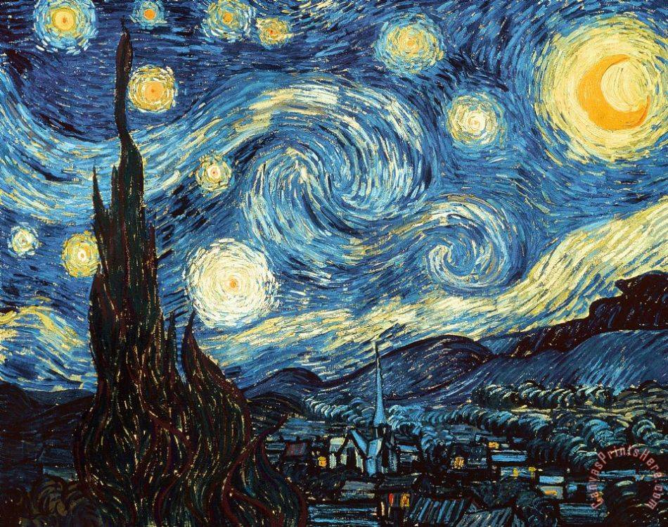 Vincent Van Gogh The Starry Night Art Print