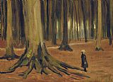 Vincent van Gogh A Girl in a Wood Print