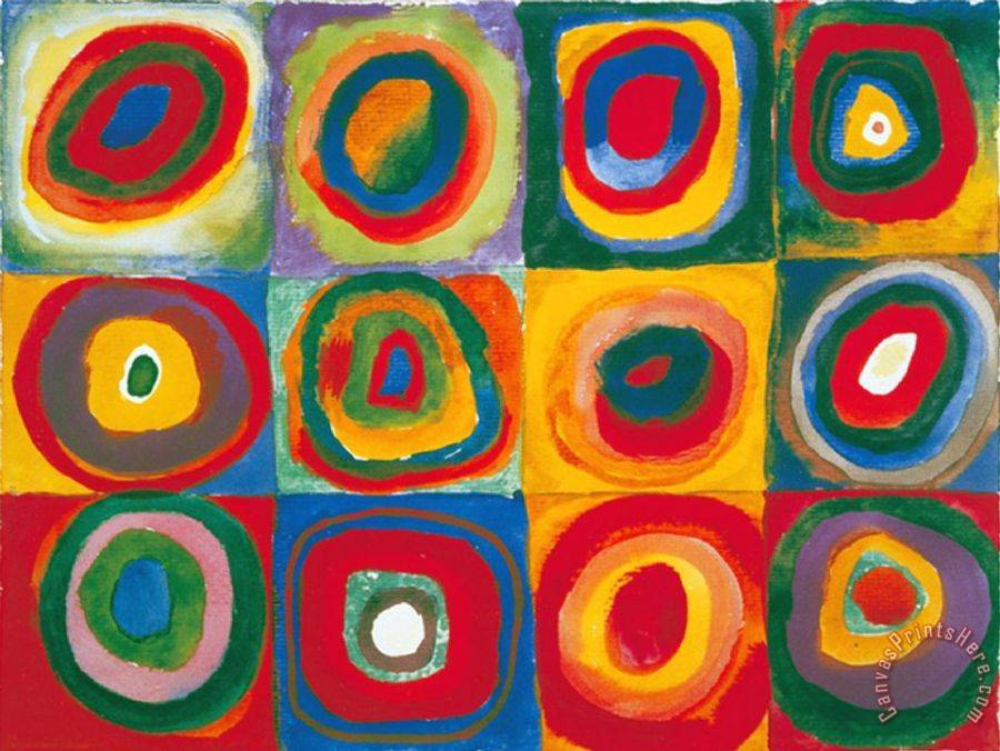 Wassily Kandinsky Colour Study Squares And Concentric Circles Art Print
