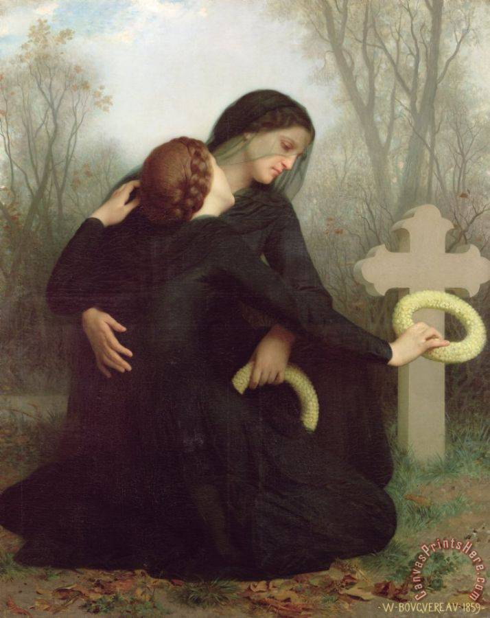 William Adolphe Bouguereau All Saints Day Art Print