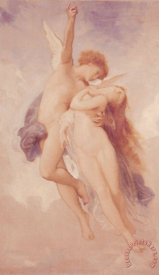 William Adolphe Bouguereau Cupid and Psyche Art Print