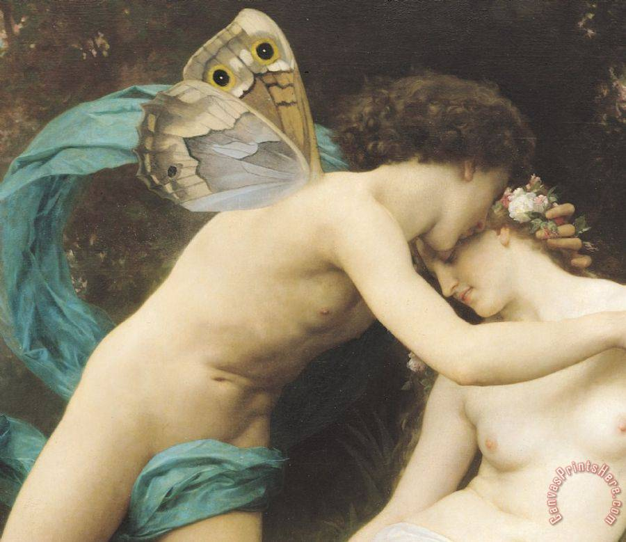 William Adolphe Bouguereau Flora and Zephyr Art Print