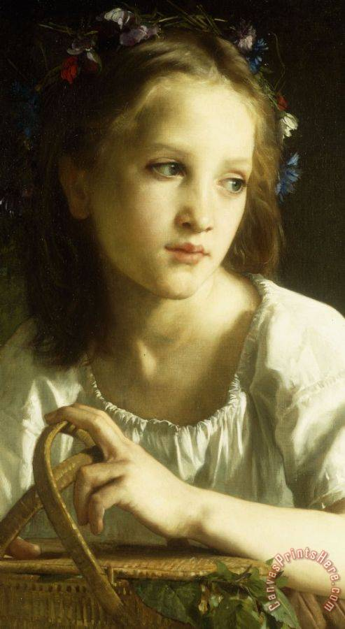 William Adolphe Bouguereau La Petite Ophelie Art Print