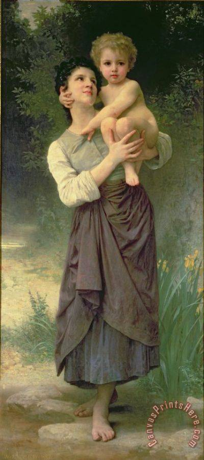 William Adolphe Bouguereau Mother and Child Art Print