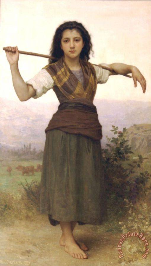 William Adolphe Bouguereau Shepherdess Art Print