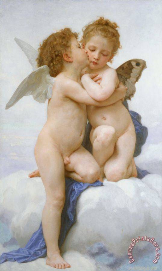 William Adolphe Bouguereau The First Kiss Art Print